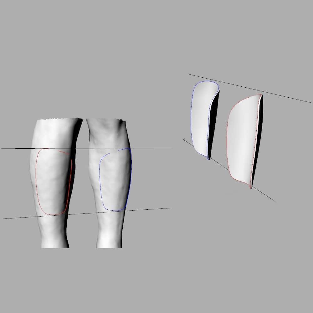 esnaeo piernas tecnologia espinilleras 3d a medida