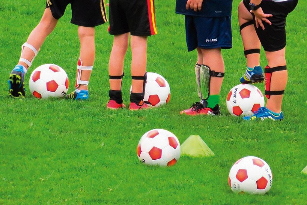 Espinilleras de fútbol para niños